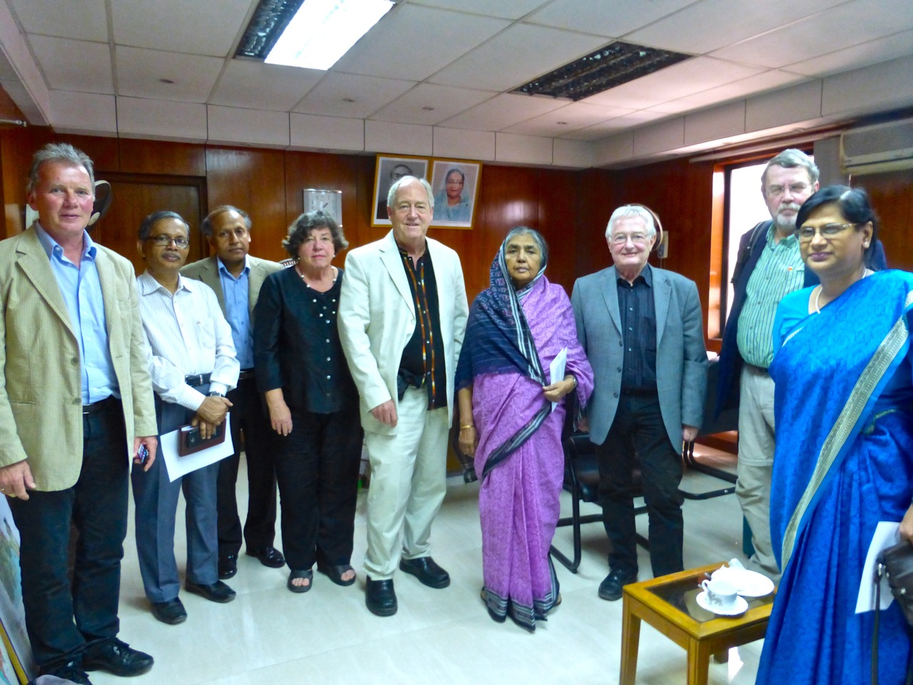 With Minister of Agriculture Matia Chowdhury and the Ministry Staff and University Professors