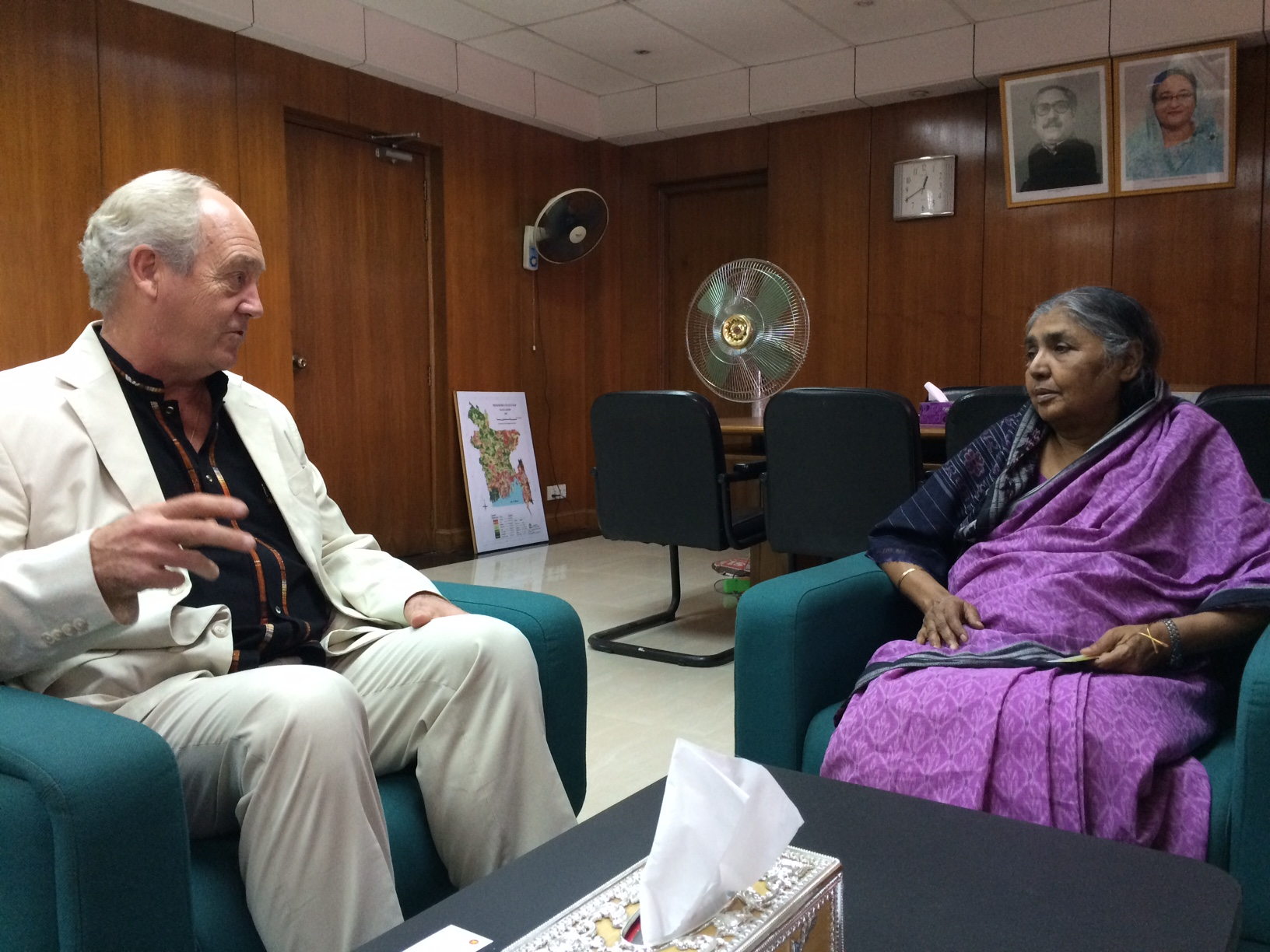 With Bangladesh Minister of Agriculture, Matia Dhowdbury